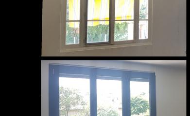 Fenêtre en PVC avant après